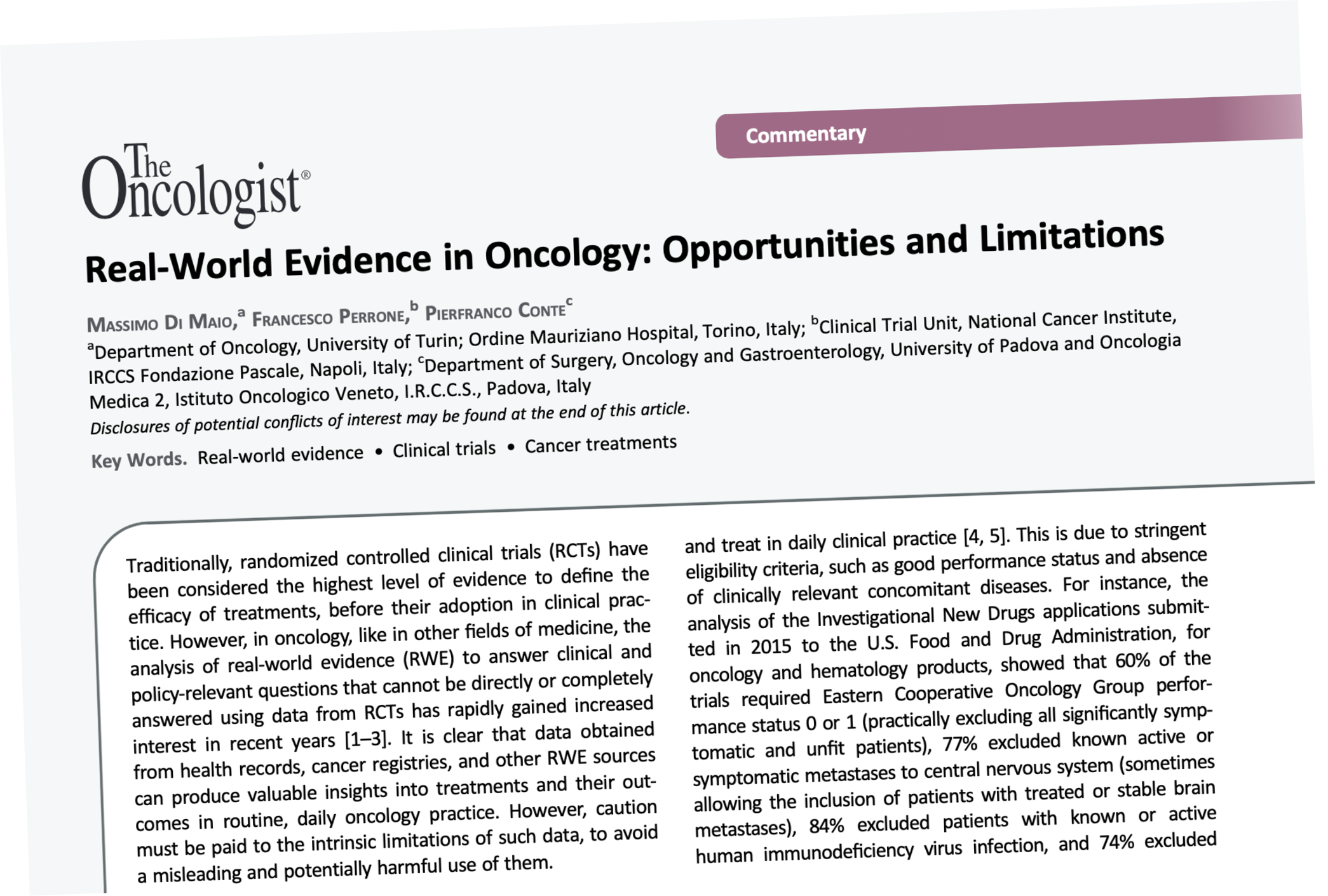 Real-world evidence in oncology has benefits (and risks)