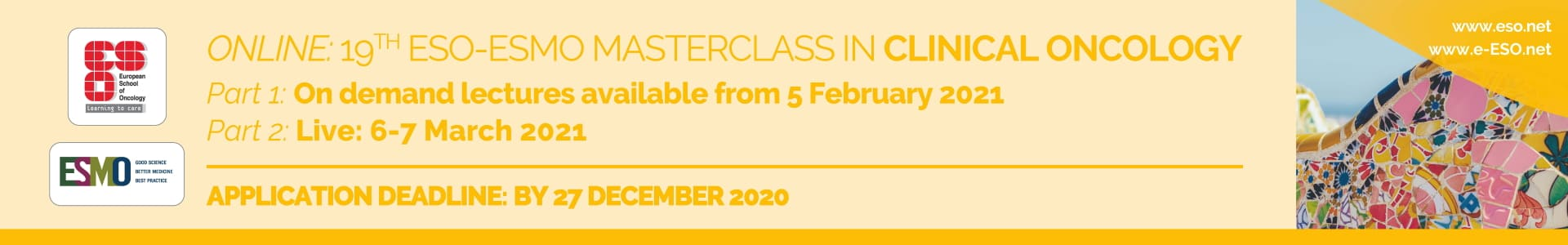 19th ESO ESMO Masterclass in Clinical Oncology